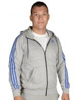 Adidas Performance pulóver - ADIDAS PERFORMANCE ESS 3S FZ HOODB