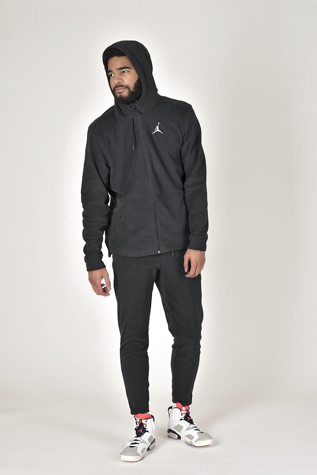 Nike Mens Jordan Flight Fleece Full-Zip Hood. Férfi végigzippes pulóver 3a49e0db42