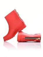 Dorko csizma - DORKO RED COLOR ANKLE BOOT WITH ZIPPER