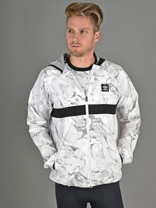 MARBLE AOP BB PACKABLE WINDJACKET