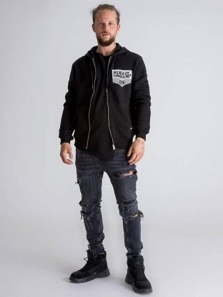Dorko pulover - DORKO HALOTT PÉNZ ZIPPED HOODIE MEN